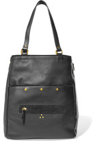 Jerome Dreyfuss Serge Textured-leather Tote - Black