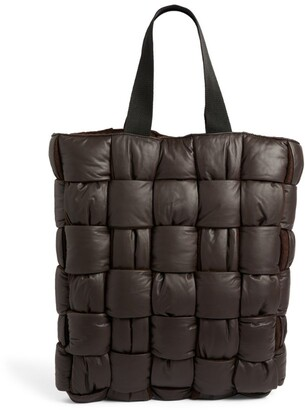 Bottega Veneta Leather Padded Intrecciato Tote Bag