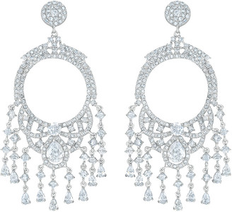 Genevive Silver Cz Earrings