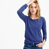J.Crew Long-sleeve garment-dyed pocket T-shirt