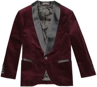 Brunello Cucinelli Kids Cotton-corduroy tuxedo jacket