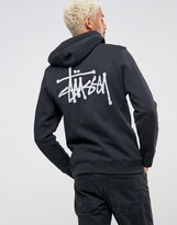 Stussy Zip Through Hoodie With Back Logo