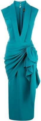 Christian Siriano waterfall waist dress