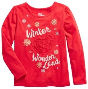 Epic Threads Toddler Girls Winter Wonderland Embellished T-Shirt, Created For Macy's