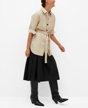 MANGO Women's Faux Leather Overshirt