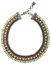 BCBGMAXAZRIA Iron Corded Stone Necklace
