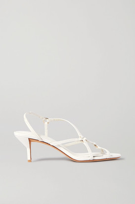 3.1 Phillip Lim Louise Leather Slingback Sandals - Ivory