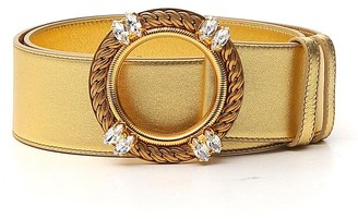 Miu Miu Crystal Buckle Belt