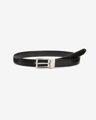 Express Croc-Embossed Vegan Leather Belt