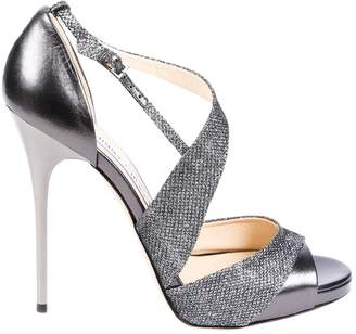Jimmy Choo \N Silver Leather Heels