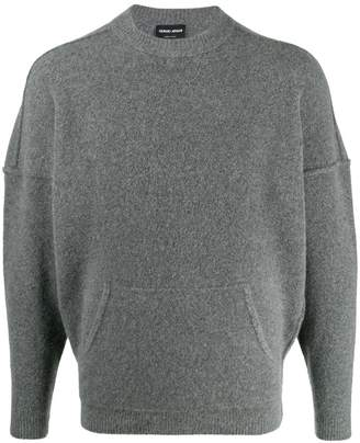 Giorgio Armani knitted panel sweater