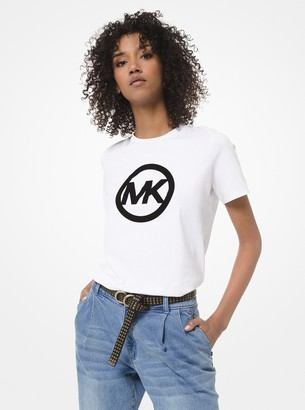 MICHAEL Michael Kors Velvet Logo Cotton-Jersey T-Shirt