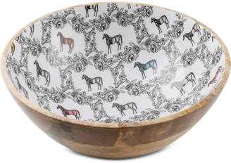 "Thirstystone Wood & Enamel Horse 11"" Bowl"