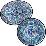Certified International Talavera 2Pc Platter Set
