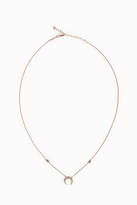 Jacquie Aiche Pav Mini Crescent Necklace