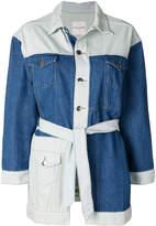 Each X Other panelled belted denim jacket