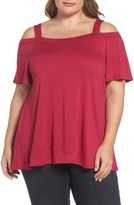 Bobeau Plus Size Women's Off The Shoulder Tee