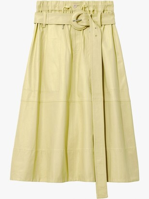 Proenza Schouler White Label Leather Belted Skirt