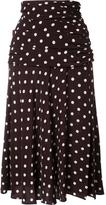 Veronica Beard polka dots A-line skirt