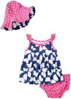 Gerber 3 Piece Dress Set (Baby) - Butterfly - 0-3 Months