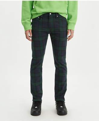 Levi's Men 502 Taper Plaid Twill Jeans