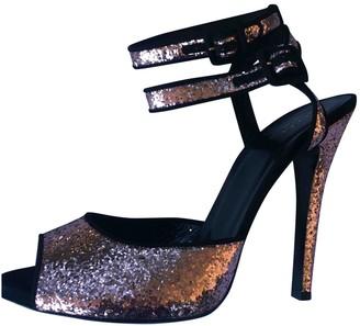 Gucci Pink Glitter Sandals
