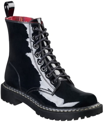 Xhilaration Women's Kaliey Patent Boot - Black