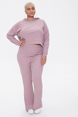 Forever 21 Plus Size Hooded Top Pants Set