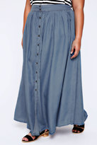 Yours Clothing Denim Blue Tencel Maxi Skirt