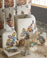 Croscill Bath Mosaic Leaves Wastebasket