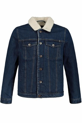 JP 1880 Men's Big & Tall Denim Jacket Blue Denim XXXXX-Large 748757 92-5XL