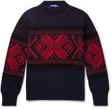 Junya Watanabe - Jacquard-knit Wool-blend Sweater
