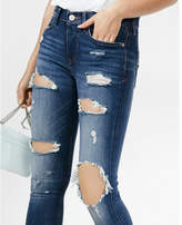 Express mid rise distressed stretch jean leggings