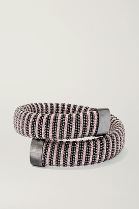 Carolina Bucci Caro Blackened Sterling Silver And Lurex Bracelet - Gunmetal