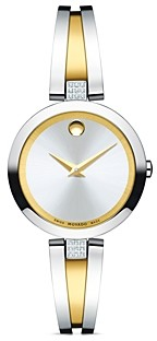 Movado Aleena Diamond Two-Tone Watch, 27mm