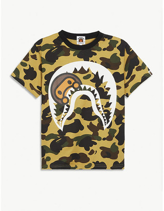 A Bathing Ape Logo-printed camouflage cotton T-shirt 4-8 years