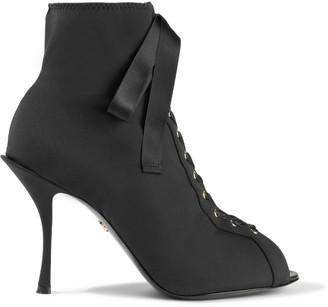 Dolce & Gabbana Lace-up Stretch-knit Sock Boots
