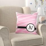N. Solway Monogram Letter Zebra Print Chic Girly Art Pillow Cover Harriet Bee Letter