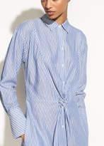 Vince Classic Stripe Twist Front Shirtdress