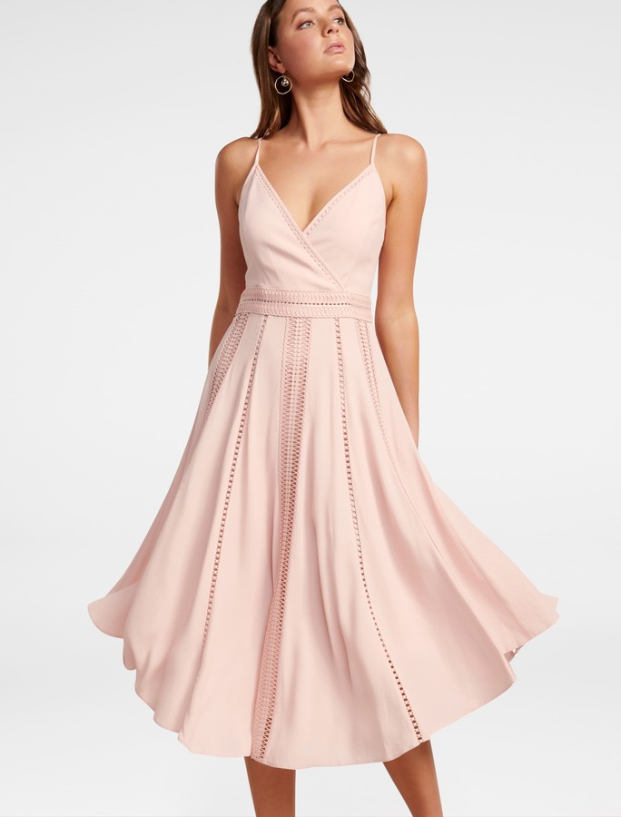 Forever New Naomi Lace Insert Midi Dress - Cosmetic Nude - 4