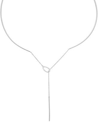 Bliss Women's Necklaces Silver - Silvertone Lariat Choker Necklace