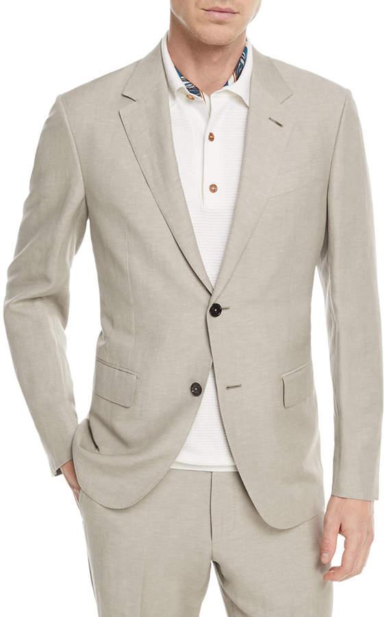 Ermenegildo Zegna Solid Summer Trofeo Wool/Linen Two-Piece Suit