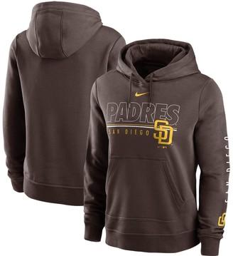 Nike Women's Brown San Diego Padres Team Outline Club Pullover Hoodie
