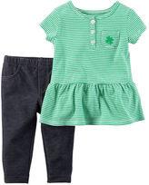 Carter's 2-Piece St. Patrick's Day Tunic & Knit Denim Set