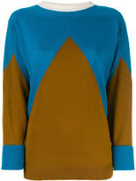 Marni contrast knitted top