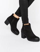 Vagabond Grace Black Leather Ankle Boots