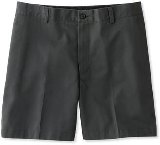 L.L. Bean Wrinkle-Free Double LA Chino Shorts, Classic Fit Plain Front 6'' Inseam