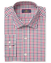Club Room Men's Estate Classic-Fit Wrinkle Resistant Holiday Gingham Dress Shirt, Only at Macy's