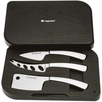 Legnoart 3-Piece Reggio Cheese Knife Set