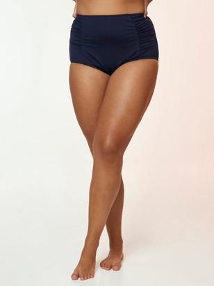 Evans High Waisted Bikini Briefs - Navy
